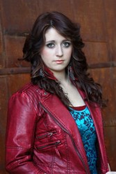Alexes Aiken Red Leather Jacket for Nashville Rocks Artist Showcase